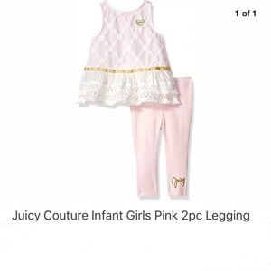 ✨HP✨Juicy Couture Girls Pink 2pc Legging Set